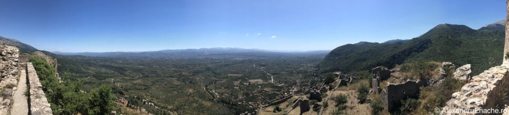 Peloponez -Mystras panoramic view